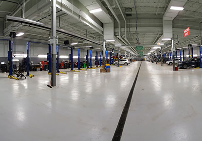 Service Bays at Berman Nissan of Chicago