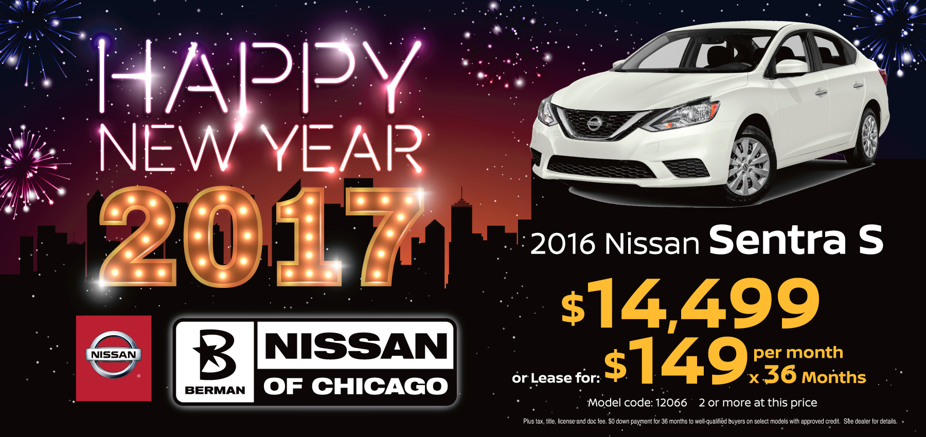 2016 Nissan Sentra January Offer