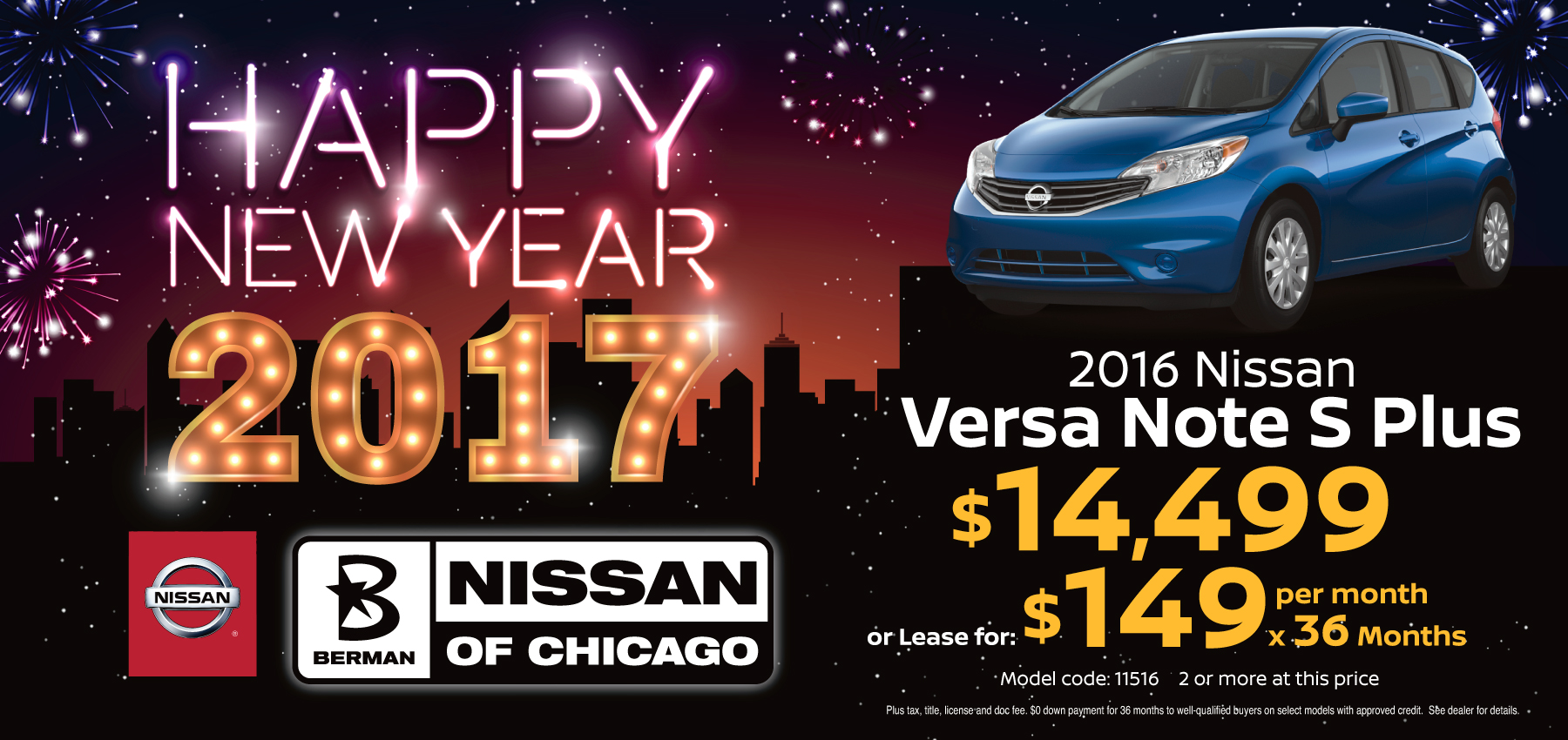 2016 Nissan Versa Note S Plus January Offer