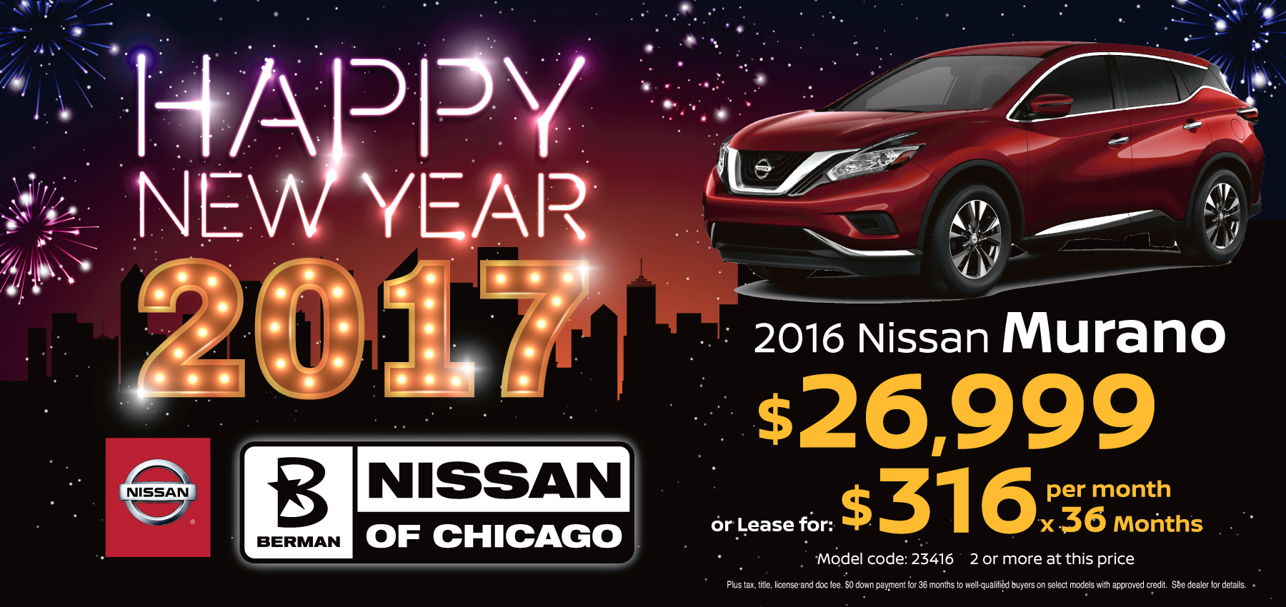 2016 Nissan Murano January Offer