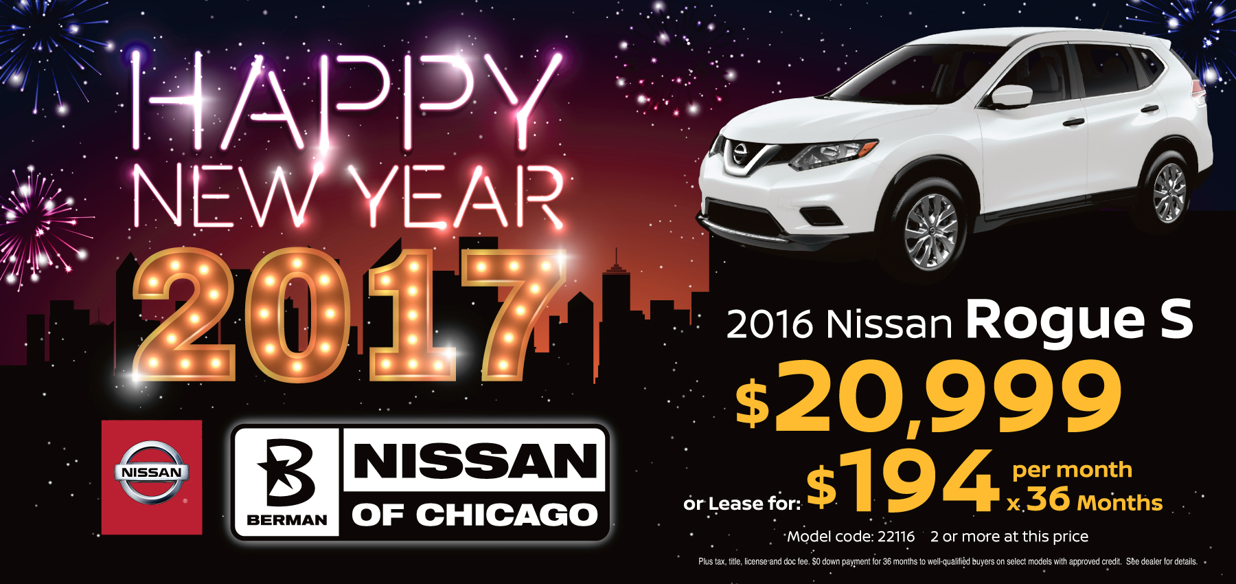 2016 Nissan Rogue January Offer