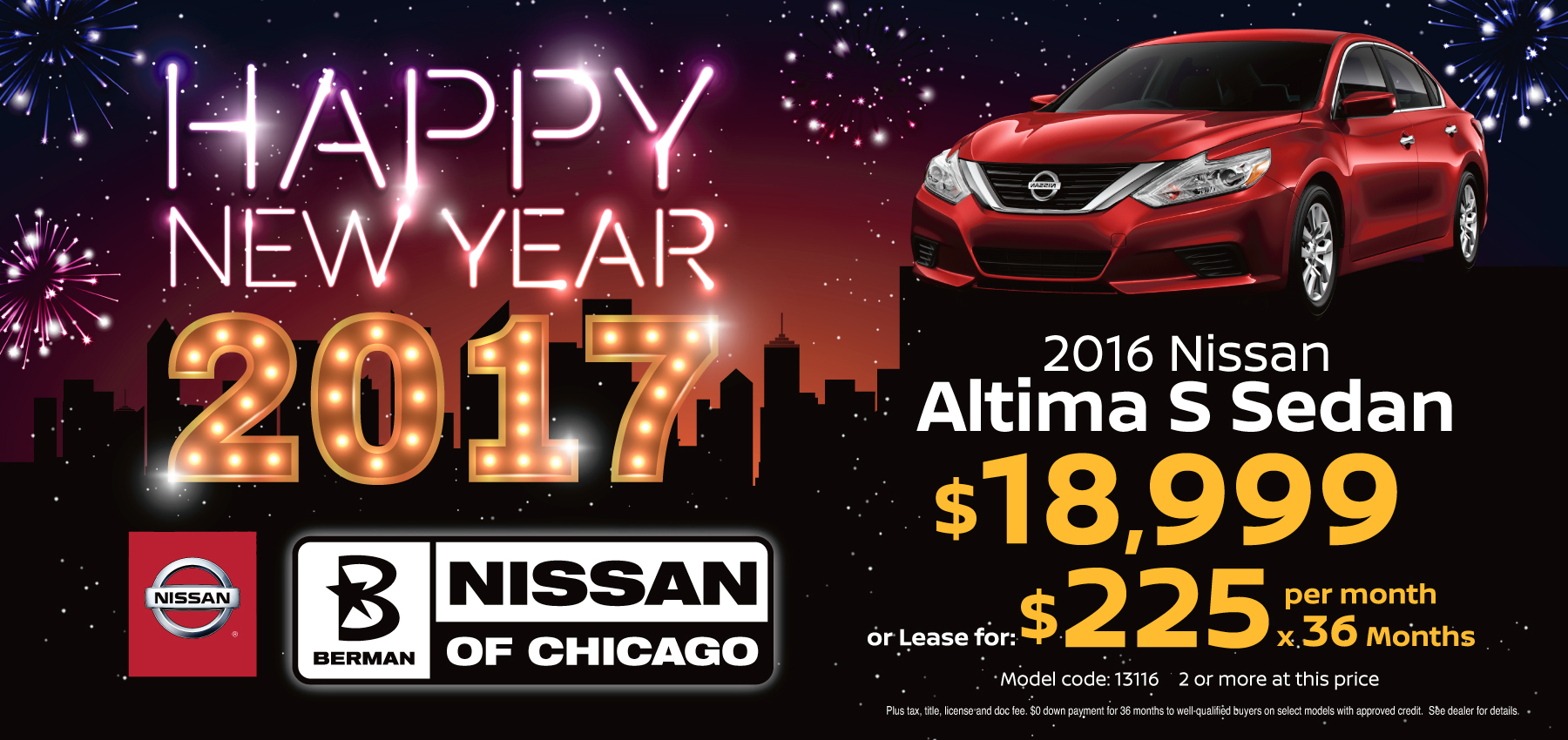 2016 Nissan Altima S January Offer
