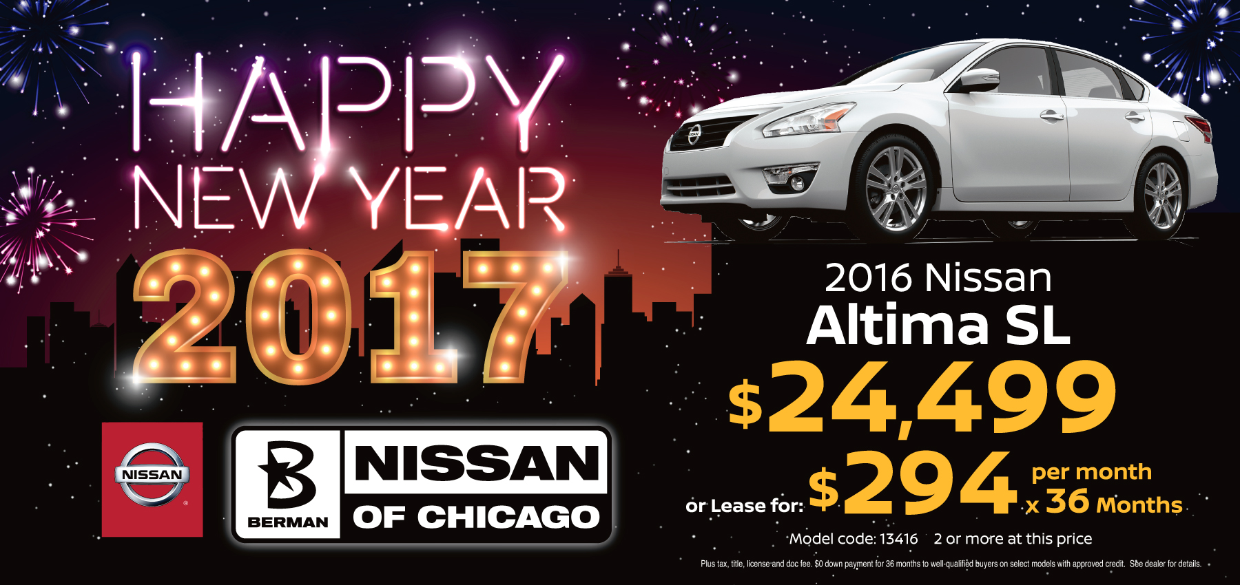 2016 Nissan Altima SL January Offer