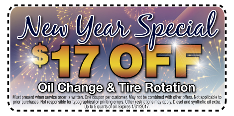 New Year Special $17 Off Oil Change & Tire Rotation at Berman Nissan of Chicago
