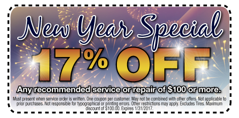 New Year Special $17 Off Any recommended service or repair of $100 or more at Berman Nissan of Chicago