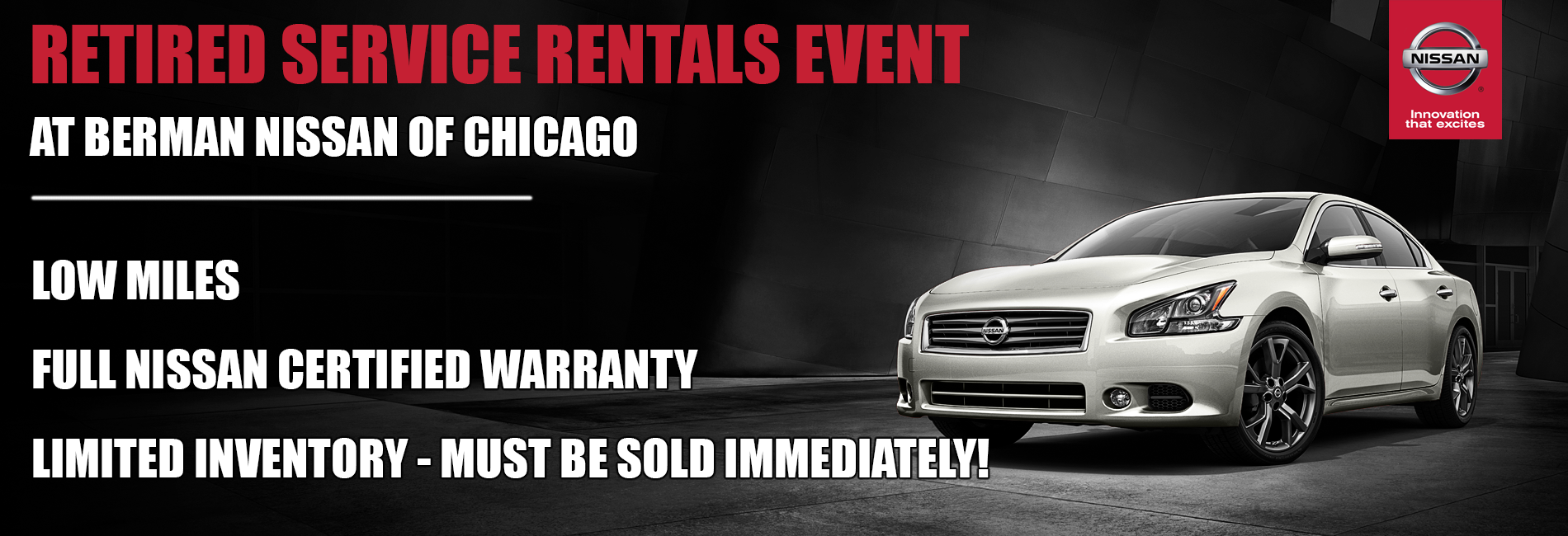 RETIRED SERVICE RENTALS EVENT at Berman Nissan of Chicago