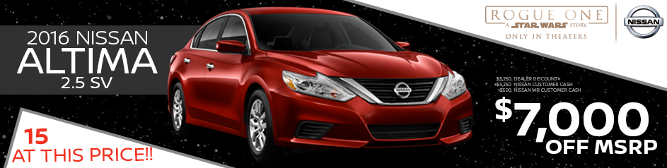 2016 altima 2 5 sv future nissan of roseville. Black Bedroom Furniture Sets. Home Design Ideas
