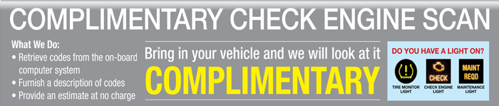complimentary check engine scan