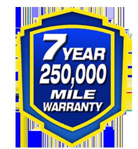 7 years warranty