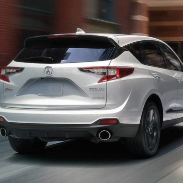 Rearview of white 2019 Acura RDX