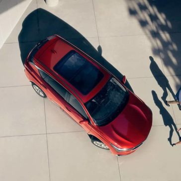 Top down view of red 2019 Acura RDX