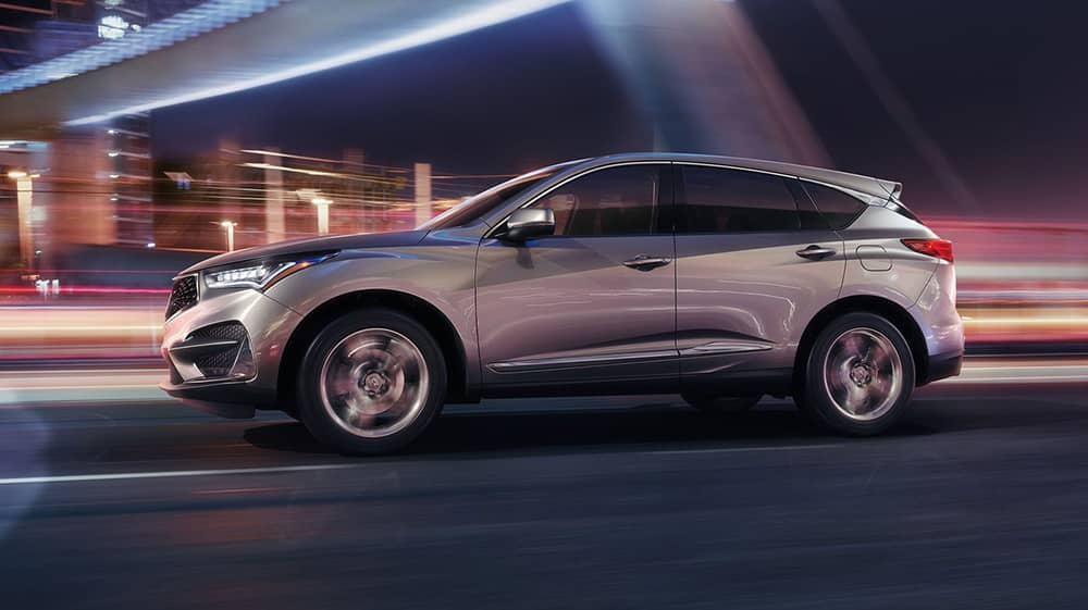 Side view of Silver 2019 Acura RDX