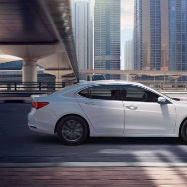 2019 Acura TLX in Platinum White Pearl