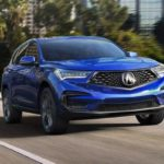 Exterior of a blue 2019 Acura RDX