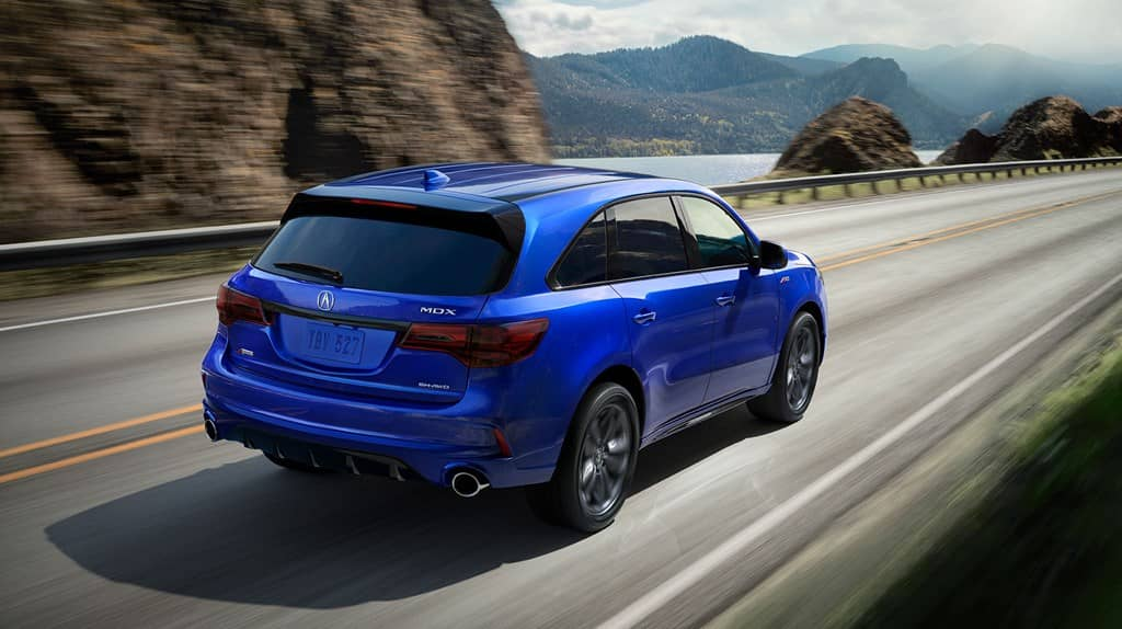 Acura MDX 2019 aspec blue pear -country road