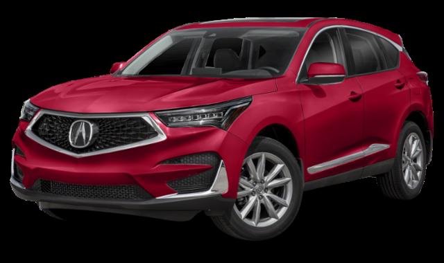 Red 2020 Acura RDX