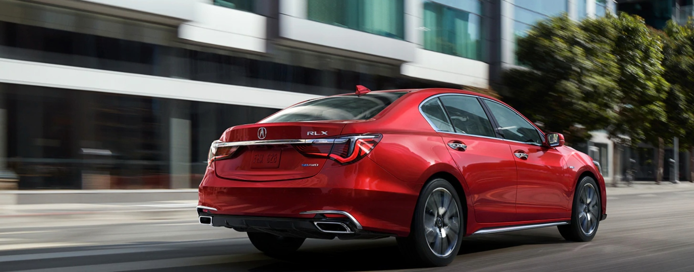 Red 2020 Acura RLX