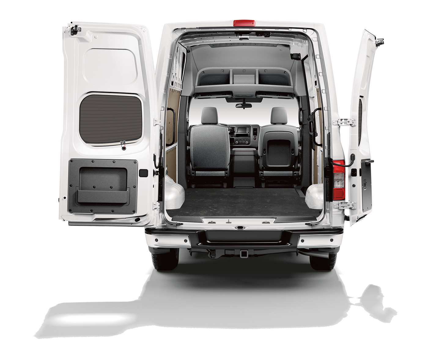 NV Cargo Offers Options for towing, shelving, racks, lighting, and insulation!