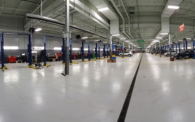 Express Service Bays at Berman Nissan of Chicago
