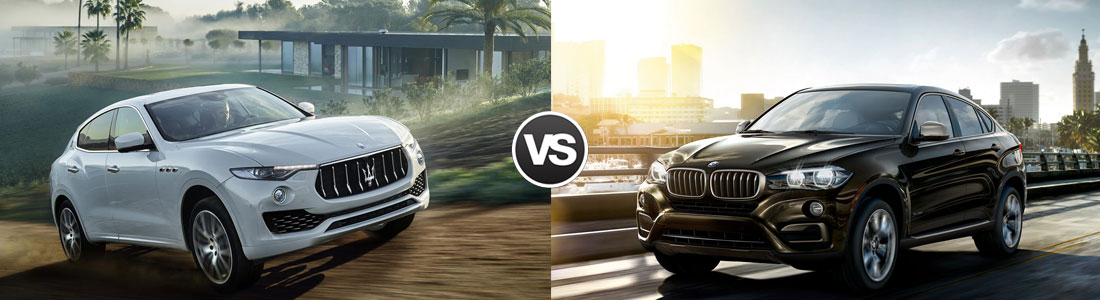 2017 Maserati Levante vs 2017 BMW X6