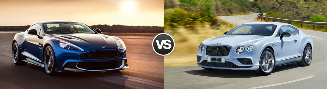 2016 Aston Martin Vanquish vs 2016 Bentley Continental GT
