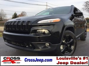 Black Jeep Cherokee at Cross Jeep
