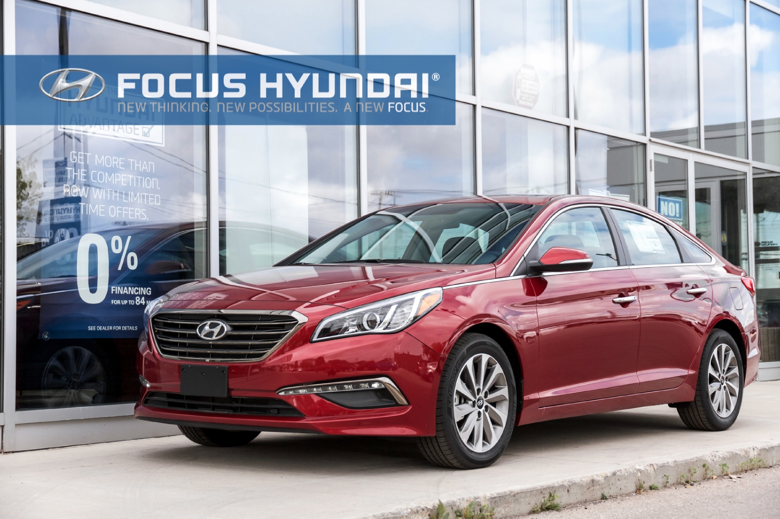 2016 Hyundai Sonata Red