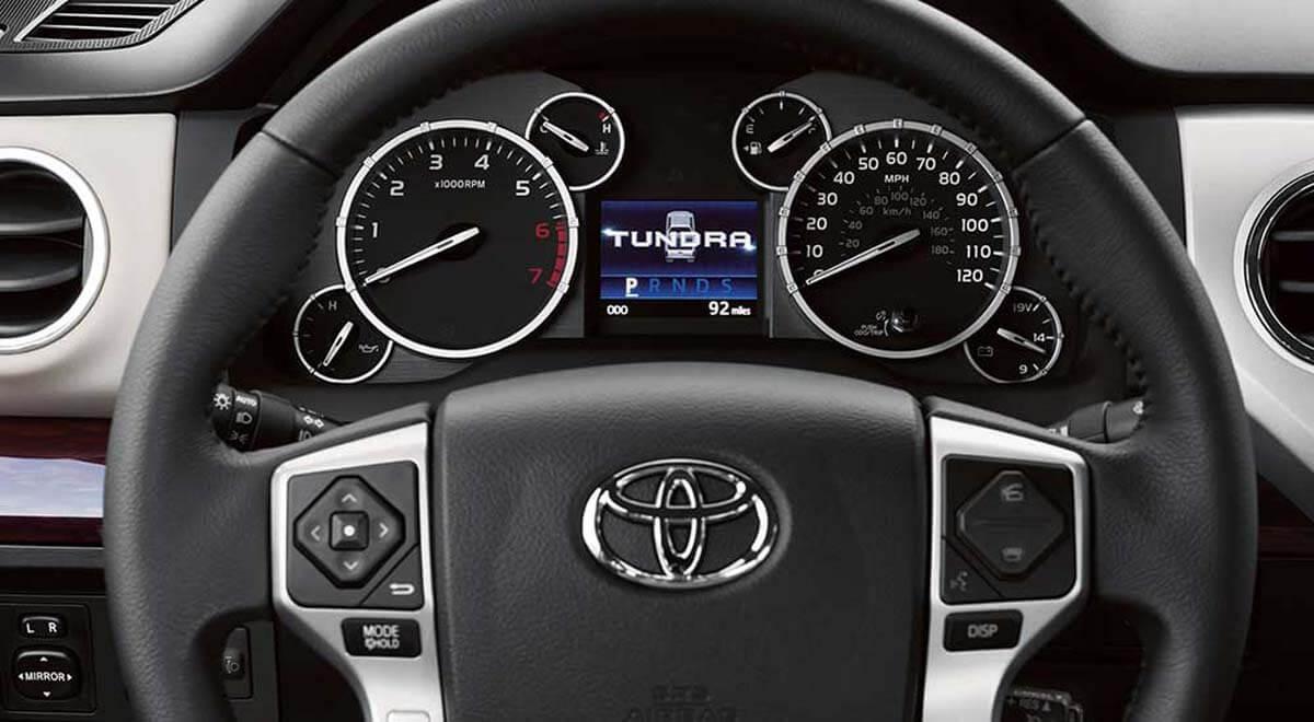 2017 Toyota Tundra interior gauges