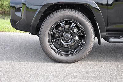 2017 Toyota 4Runner 20 inch Black Gunner Alloys