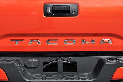 2017 Toyota Tacoma Chrome Tailgate Inserts