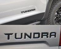 2017 Toyota Tundra Black Emblem Overlays w/ Tailgate Inserts