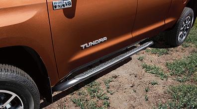 2017 Toyota Tundra Black Oval Tube Steps