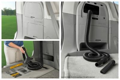 2017 Toyota Sienna Built-in On Board Vacuum