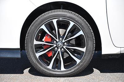2017 Toyota Corolla Red Brake Caliper Covers