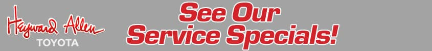 See our Latest Service Specials