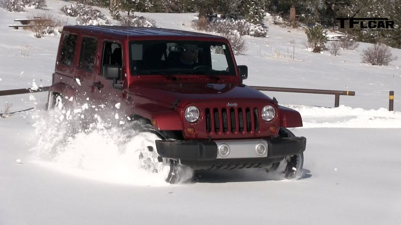 jeep tj in snow