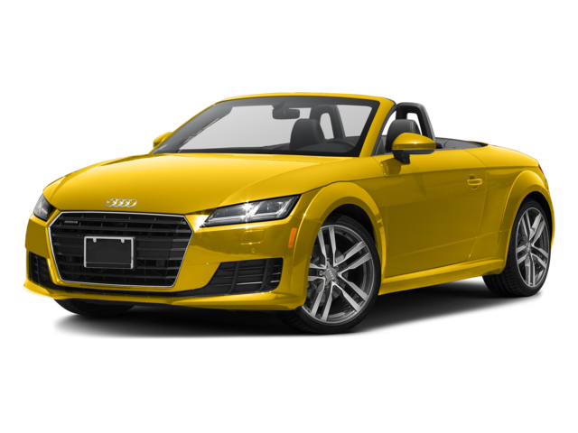 yellow 2017 Audi TT Roadster
