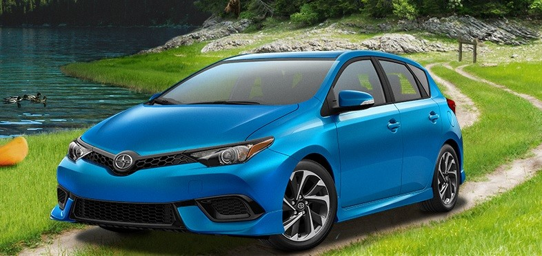 2016 Scion iM in forest