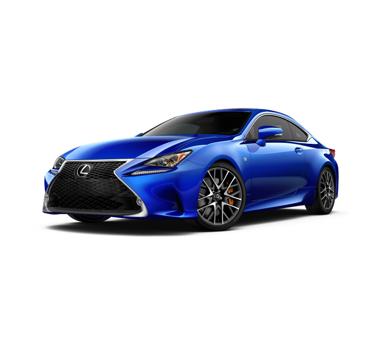 2017 Lexus RC Turbo blue