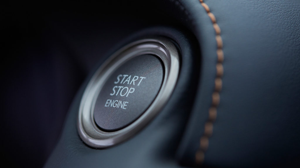 2017 Lexus RC start button