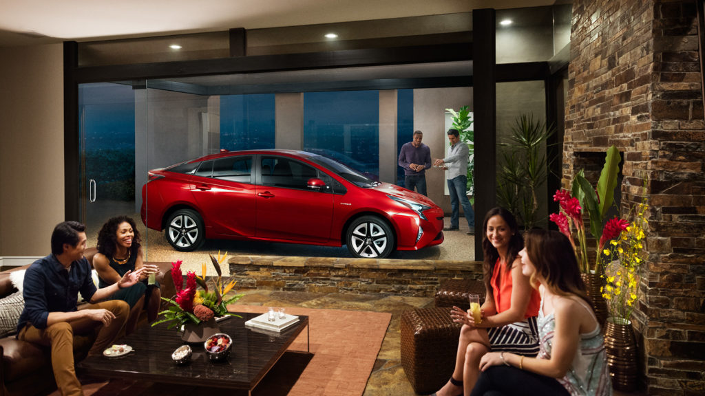 red toyota prius