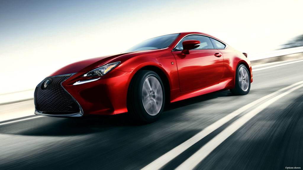 red Lexus RC 350