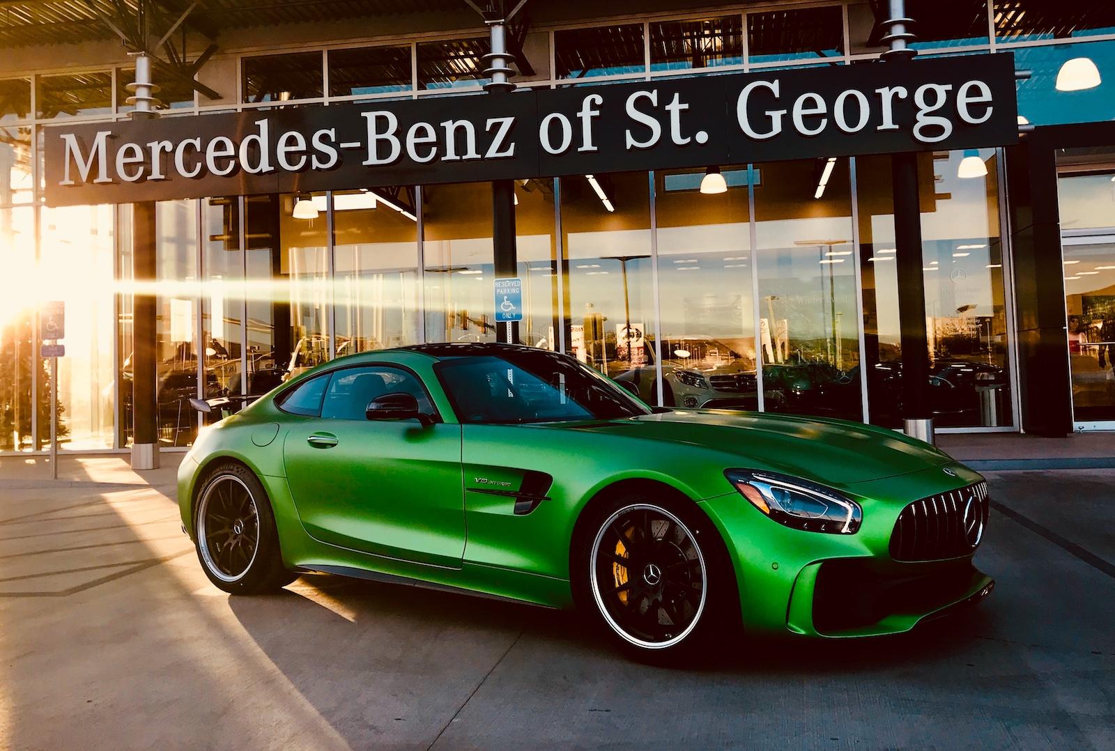 Green Mercedes-Benz AMG GT