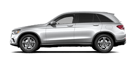 Silver Mercedes-Benz GLC