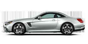 Silver Mercedes-Benz SL Roadster