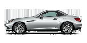 Silver Mercedes-Benz SLC Roadster