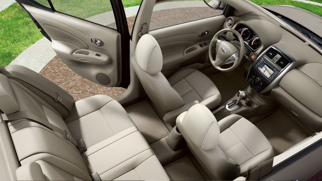 2017 Nissan Versa Sedan Interior Space Large
