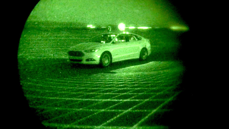 Ford Fusion Autonomous Research Vehicles Use LiDAR Sensor Techno