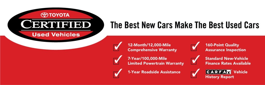 Certified Used Toyota >> Certified Used Toyota Vehicles Available Near Algonquin Il