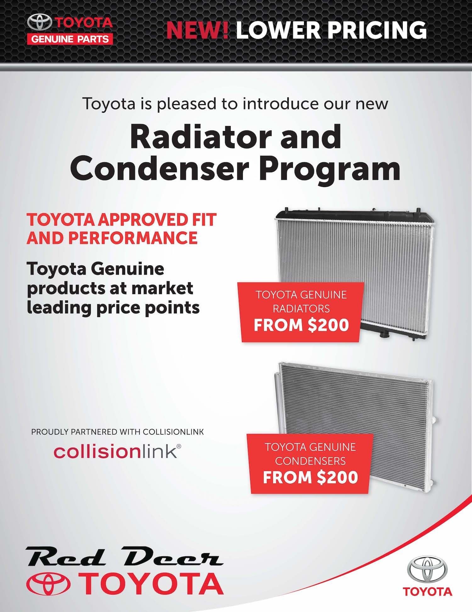 toyota radiator and condenser program
